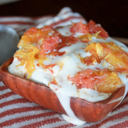 Spiced Citrus with Whipped Cream