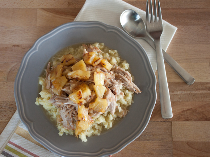 Hawaiian Pulled Pork With Cauliflower Rice | simplerootswellness.com