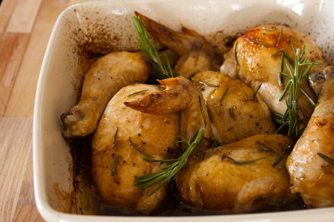 Buttery Thyme Roasted Chicken | simplerootswellness.com