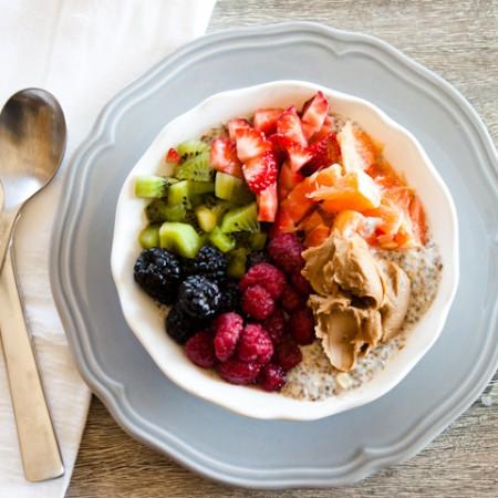 Sweet Breakfast Bowl with Chia Seed Porridge