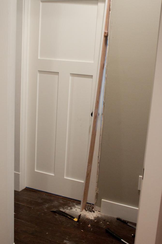 Door broken out of the wall | simplerootswellness.com