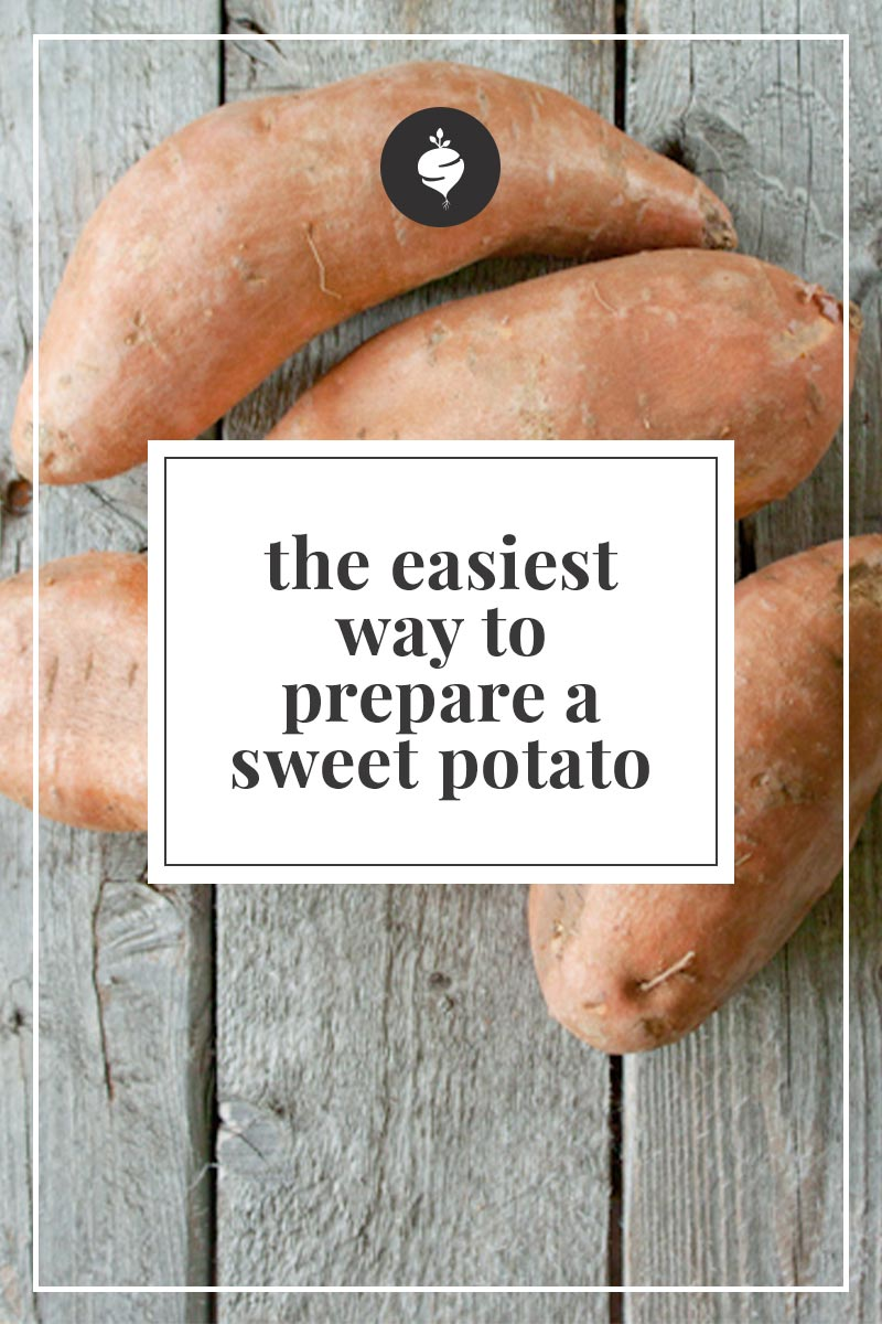 Have you ever tried to cut a raw sweet potato? Use this trick to make it much easier to cut into slices or fries for the perfect results.