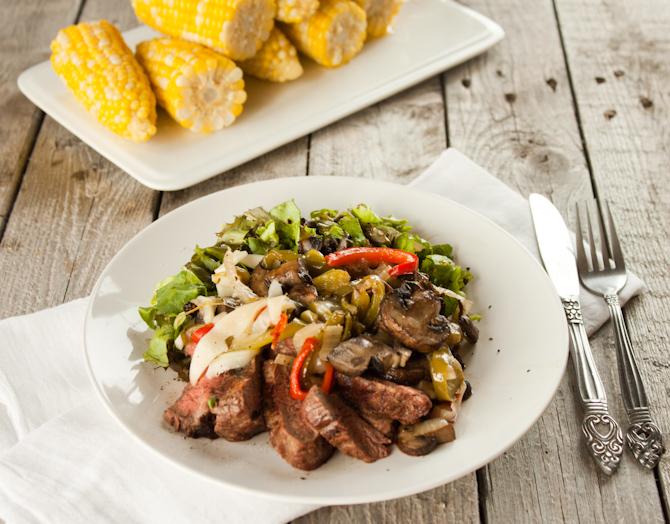 Philly Cheesesteak Salad | simplerootswellness.com