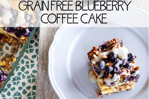 Grain Free Blueberry Coffee Cake
