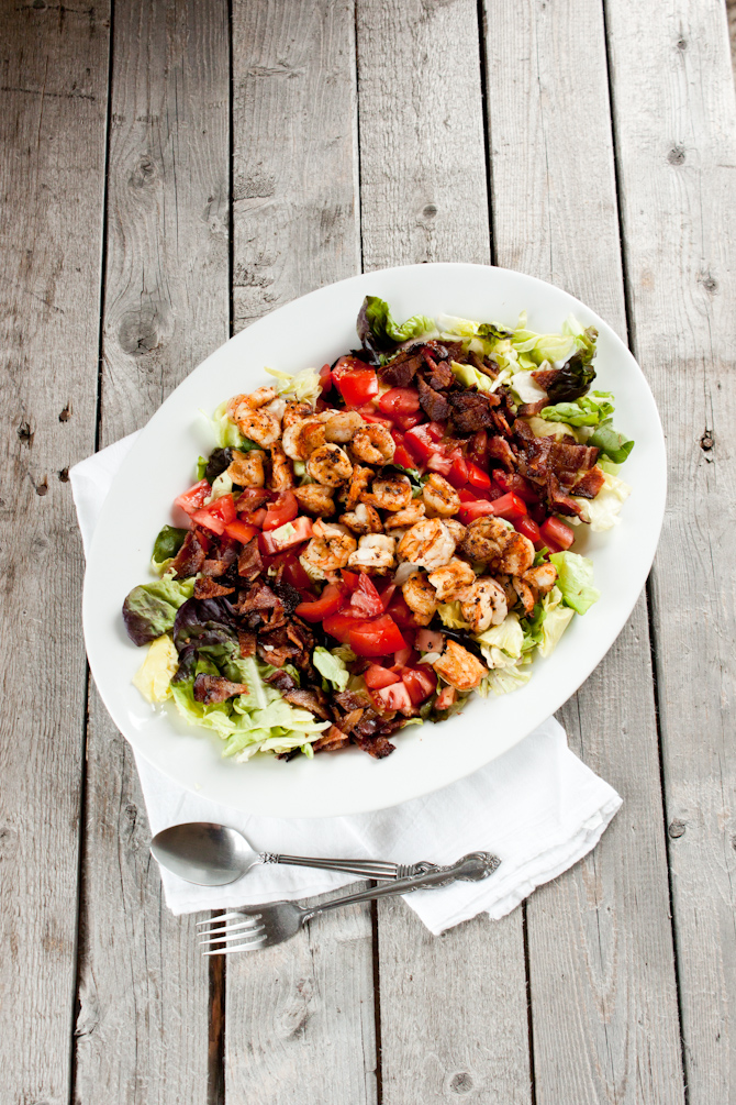 Shrimp BLT Salad   simplerootswellness.com