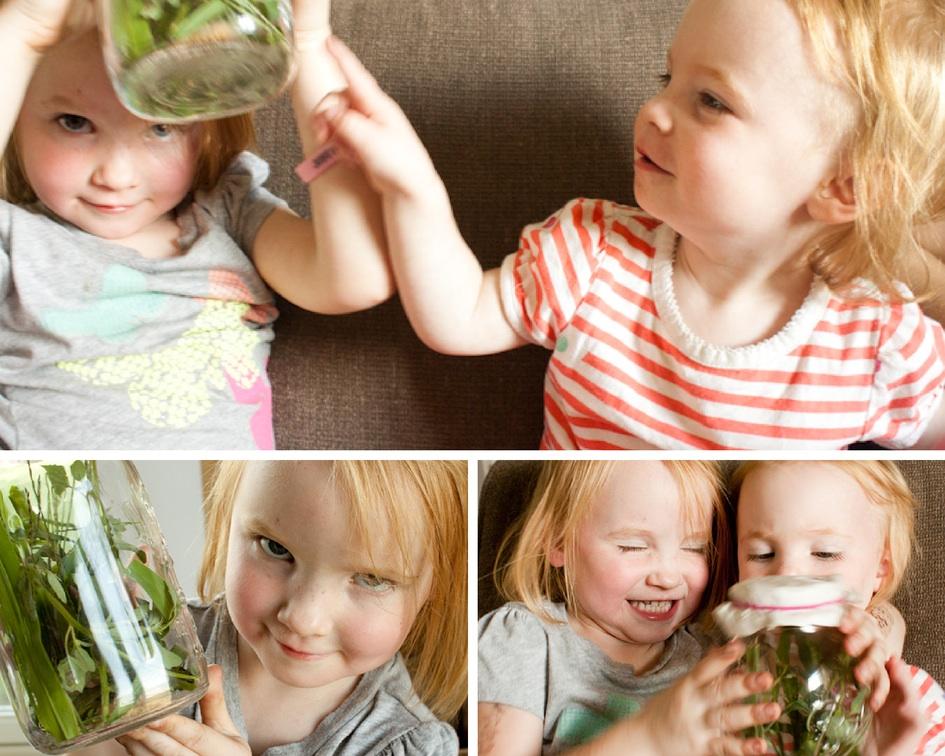 Girls With Caterpillar House | simplerootswellness.com
