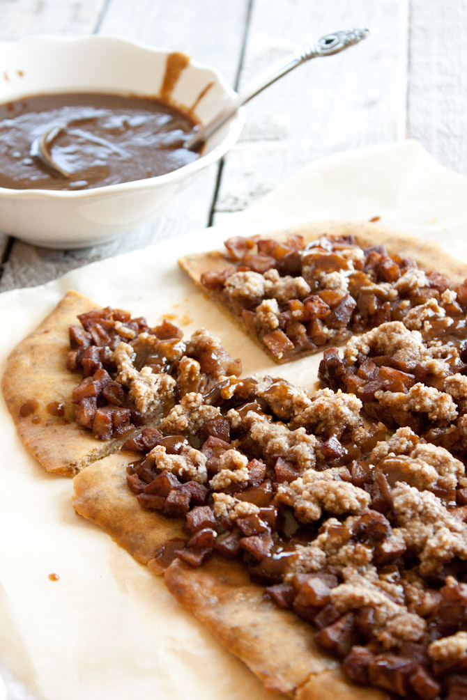 Apple Streusel Caramel Flatbread