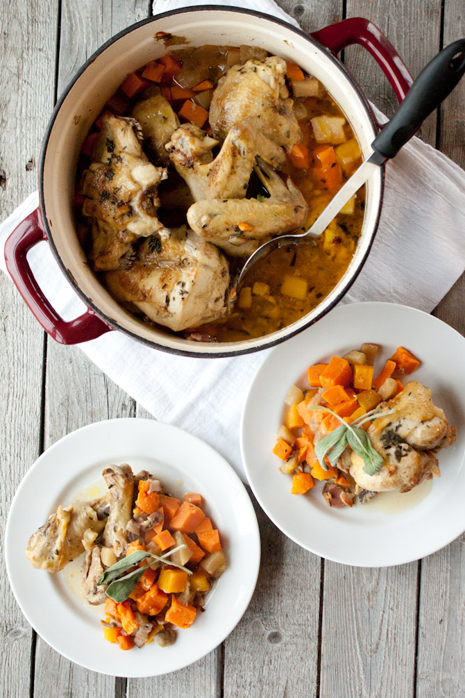 One Pot Savory Chicken and Fall Produce | simplerootswellness.com