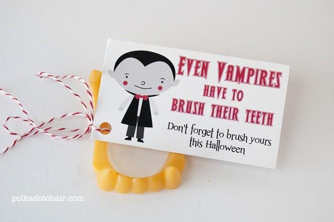 Vampire Teeth Halloween Handout