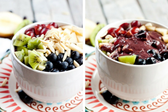 Smoothie in a bowl | simplerootswellness.com