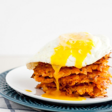 Sweet Potato Apple Hash Browns