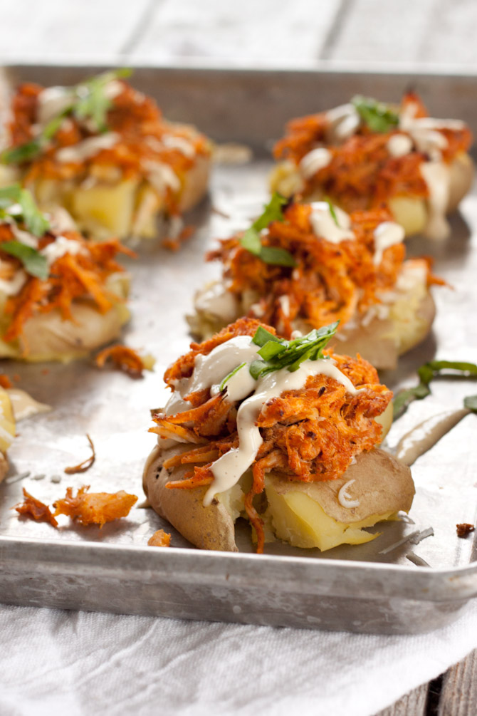 Buffalo Chicken Potato Smashers   simplerootswellness.com