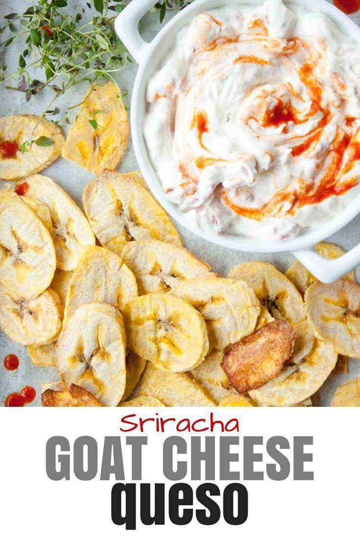 Goat Cheese Queso with Sriracha | simplerootswellness.com