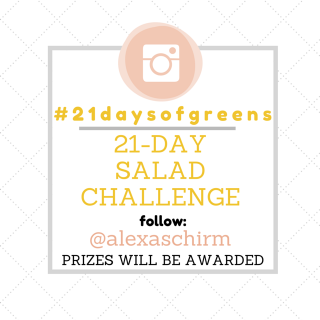 #21DaysofGreens Salad Challenge and Giveaway