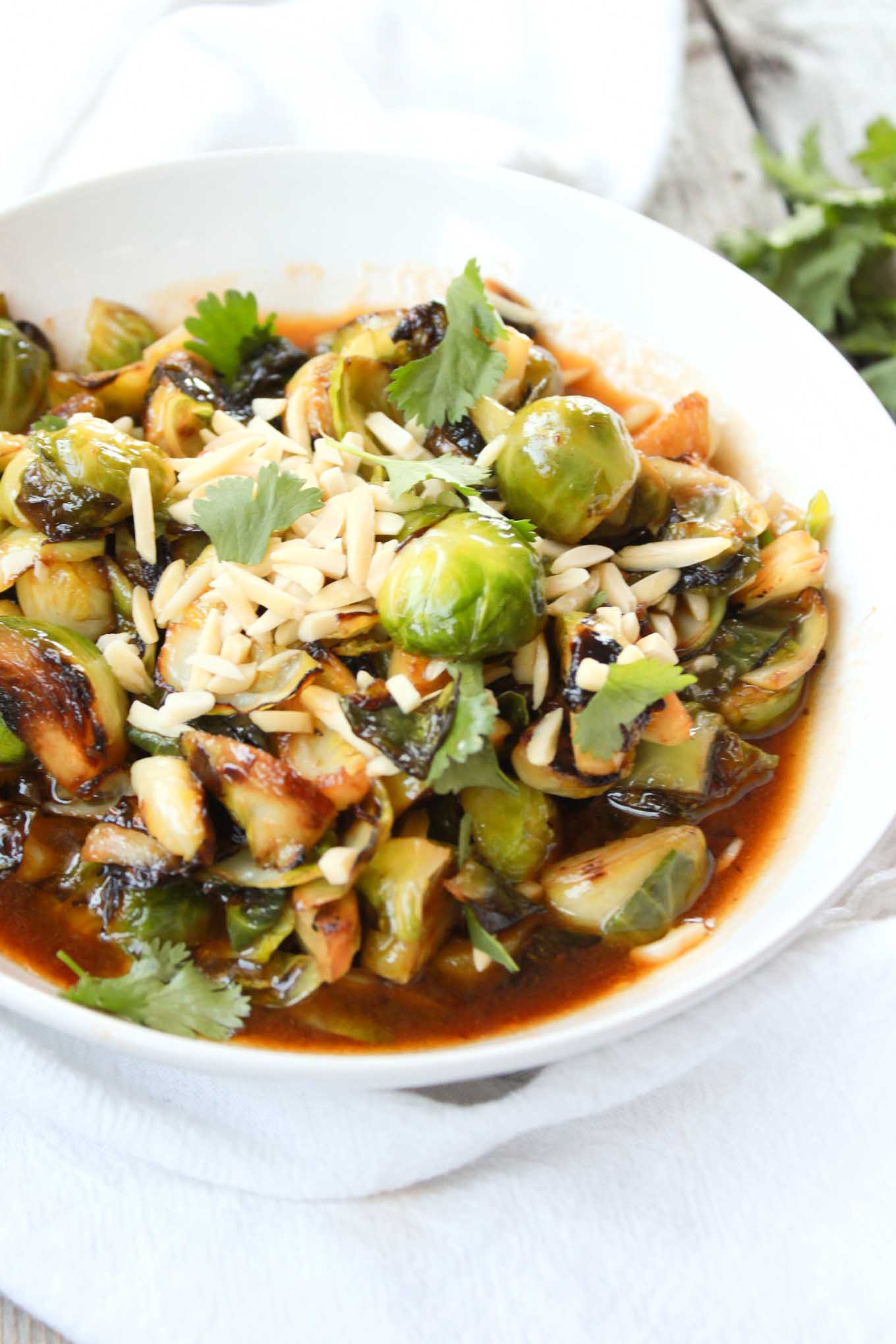 Sriracha Fried Brussels Sprouts - Simple Roots