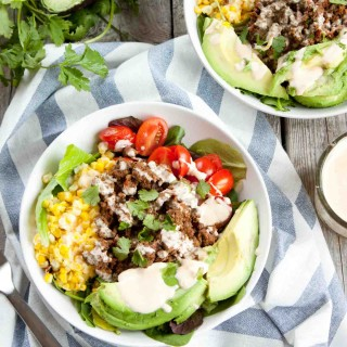 Tex Mex Salad with Sriracha Crema