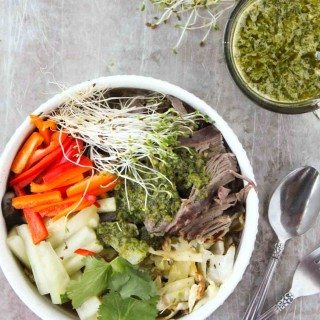 Slow Cooker Vietnamese Beef with Chimichurri
