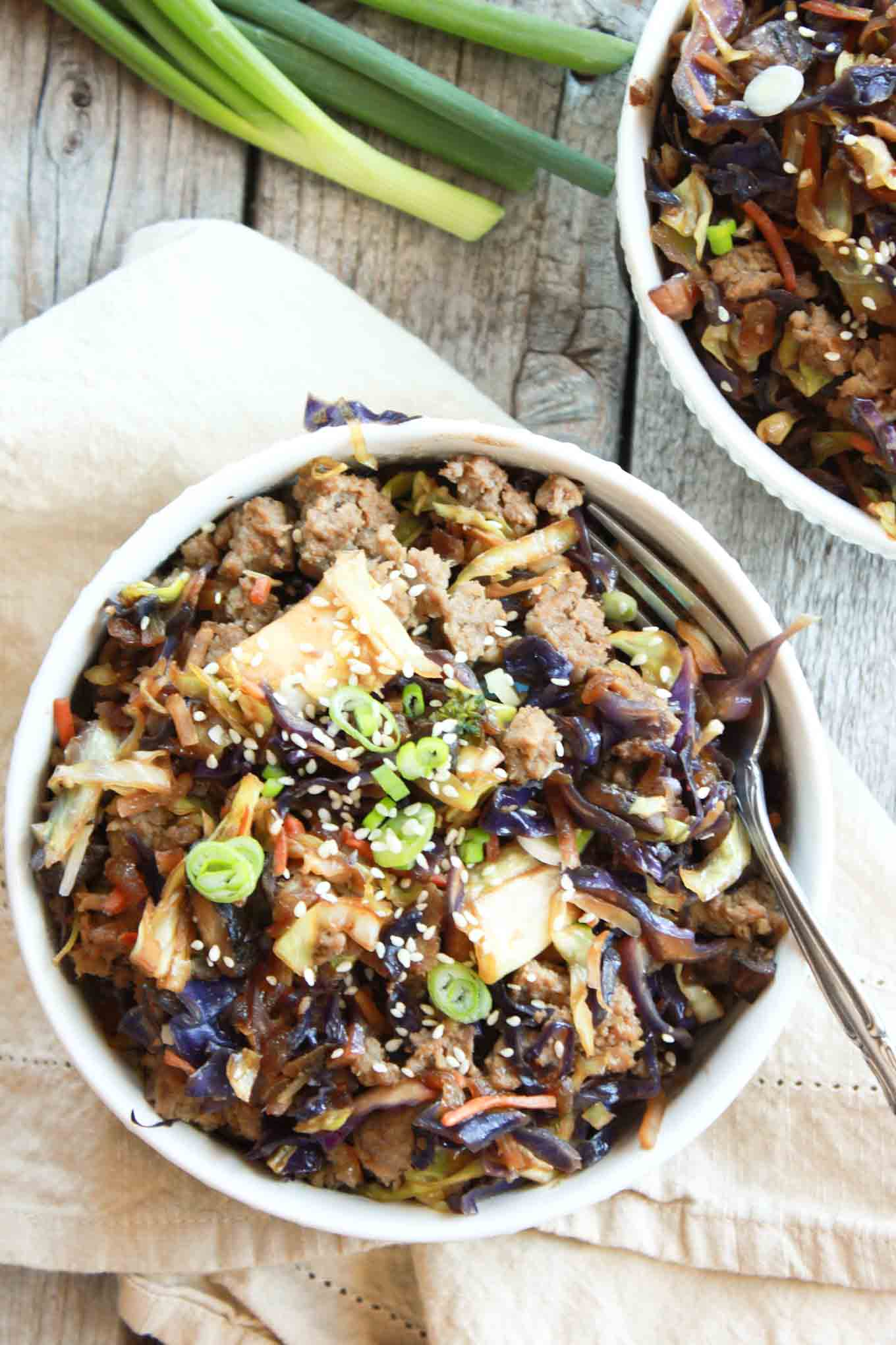 Egg Roll in a Bowl | simplerootswellness.com