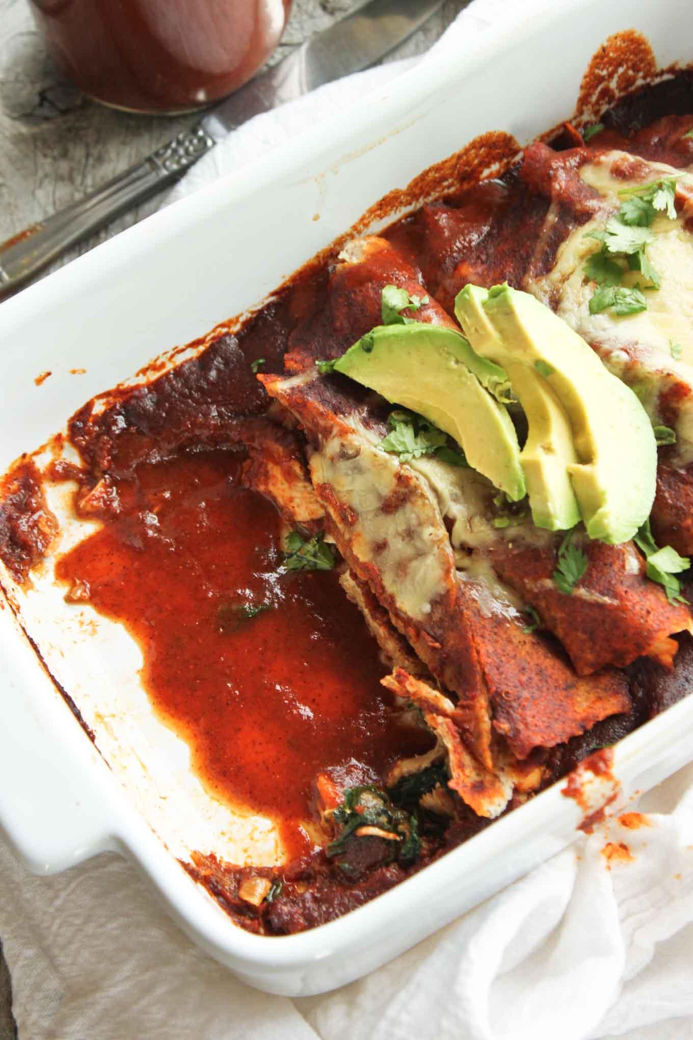 Traditional Chicken Enchiladas | simplerootswellness.com