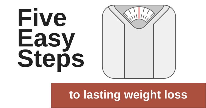 Five Easy Steps to Lasting Weight Loss | simplerootswellness.com