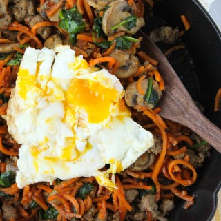 Spiralizer Sweet Potato Breakfast Hash