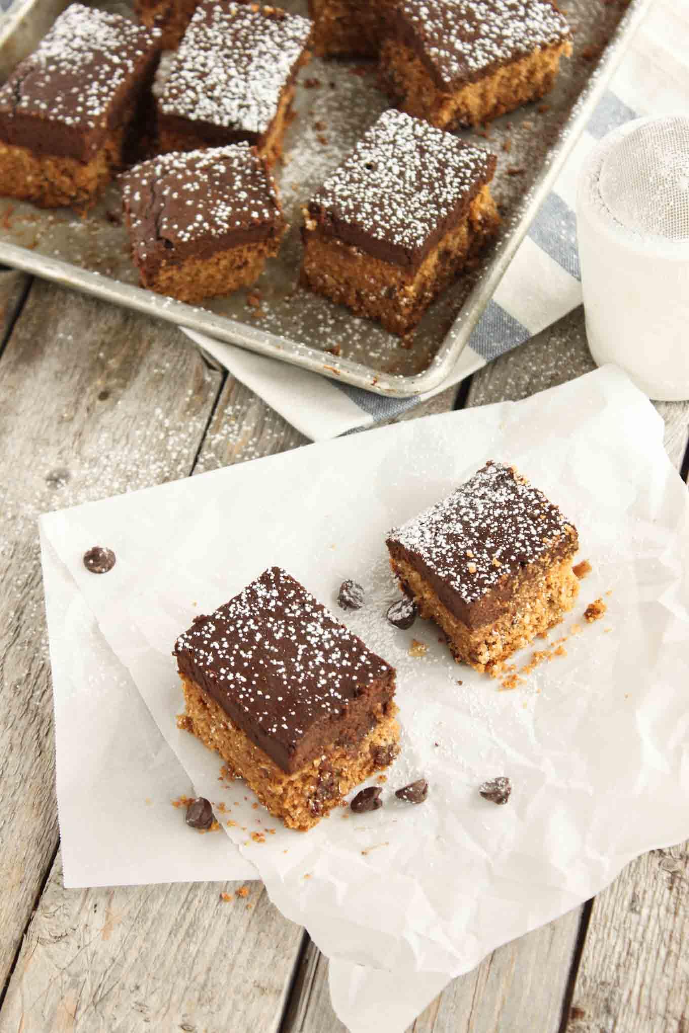 Grain Free Brownie Cookie Bars | simplerootswellness.com