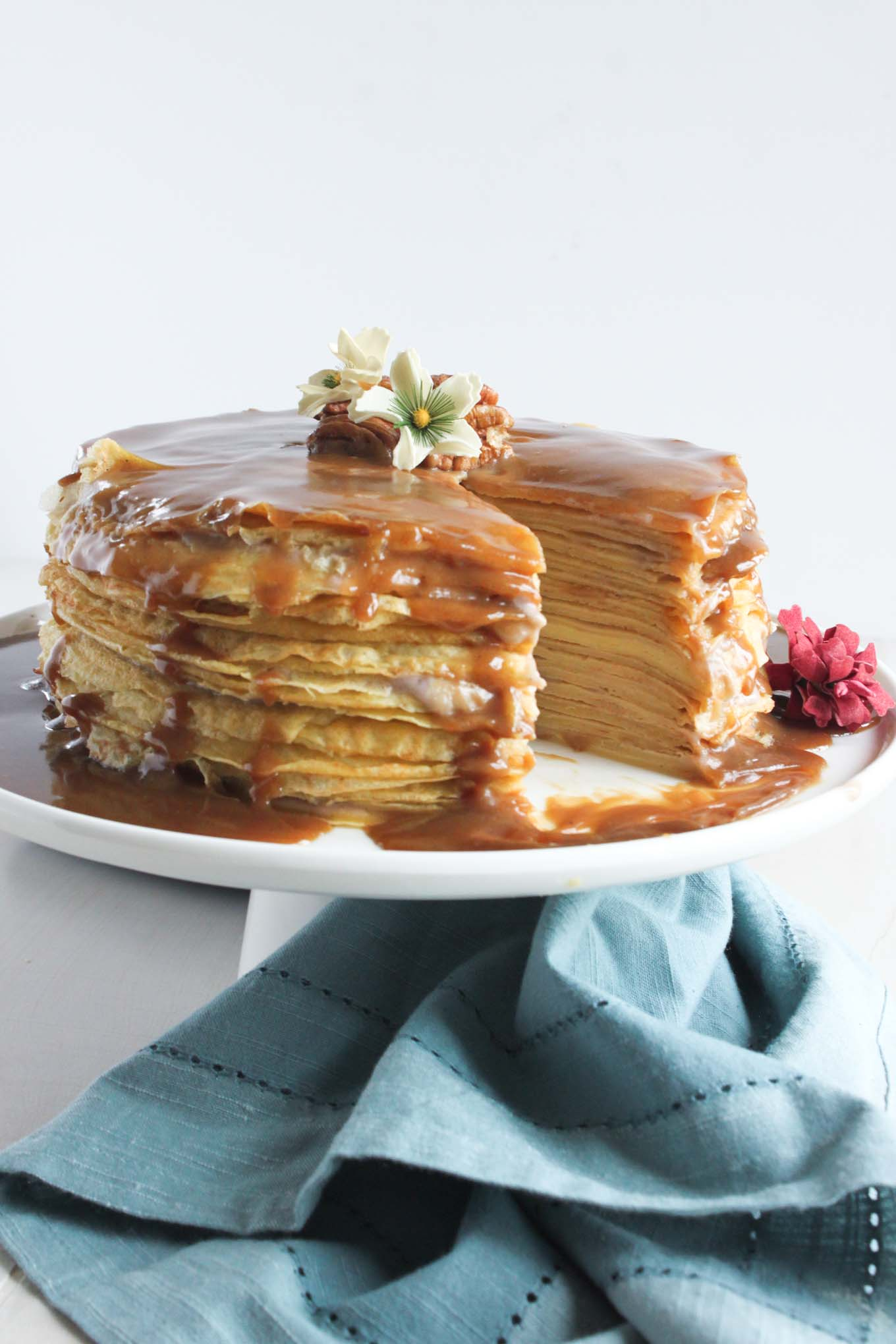 ... layers of slightly sweet crepes held together with banana cream