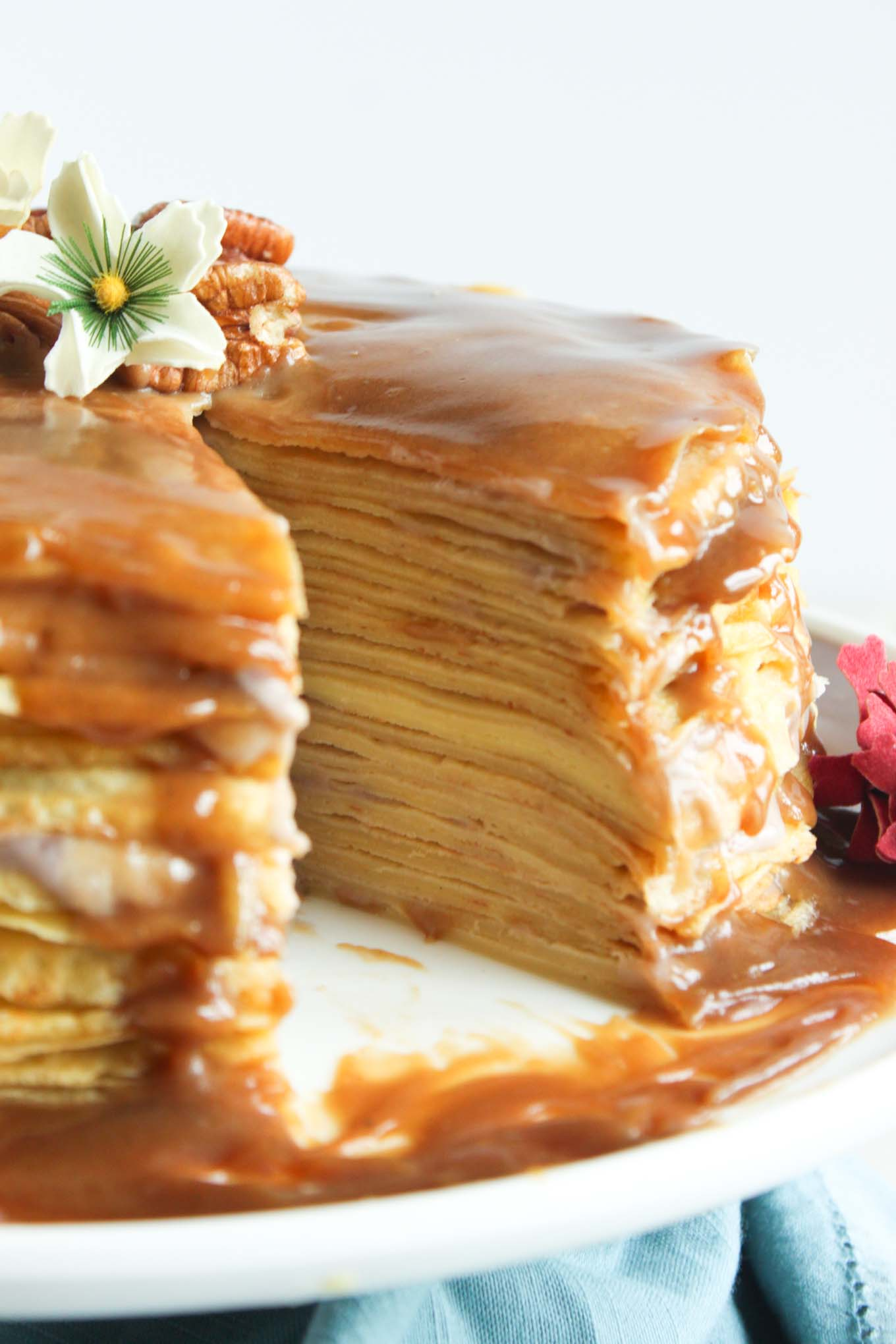 crepe cake cannoli crepe cake with orange puree spicy chocolate mousse ...