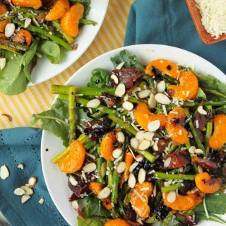Bacon and Orange Balsamic Asparagus Salad