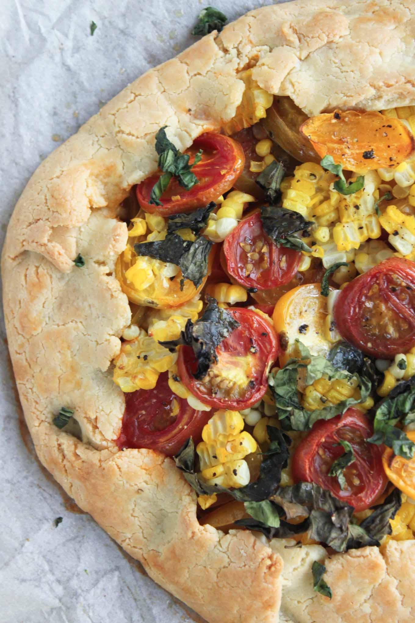 Savory Tomato and Corn Galette | simplerootswellness.com