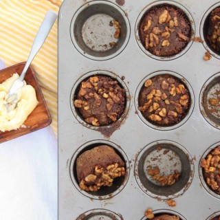 Spiced Paleo Zucchini Muffins with Streusel Topping