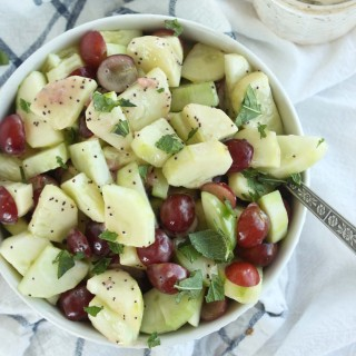 10 minute Cucumber Grape Salad with Poppyseed Dressing