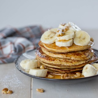 Five Ingredient Blender Protein Pancakes