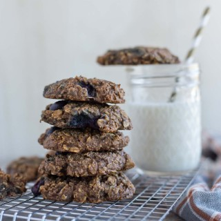 One Bowl Blueberry Oatmeal Breakfast Cookies {Vegan, Gluten-Free}