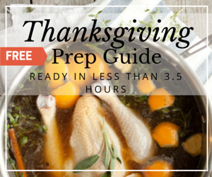 Healthy and simple Thanksgiving recipes that can be prepped in under 3.5 hours.
