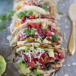 Butternut Turkey Tacos with Cranberry Sauce
