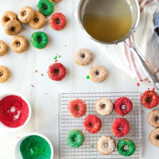 Chai Spiced Paleo Donuts with Vanilla Bean Glaze
