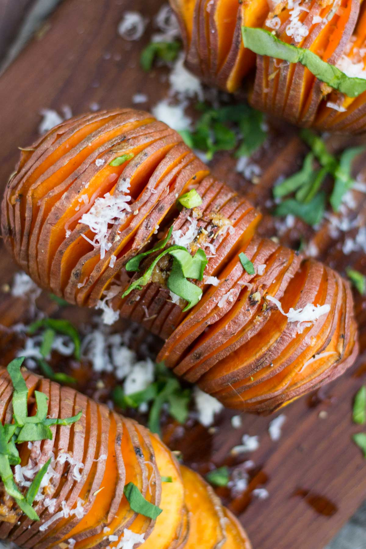 Detox Hasselback Sweet Potatoes - Simple Roots