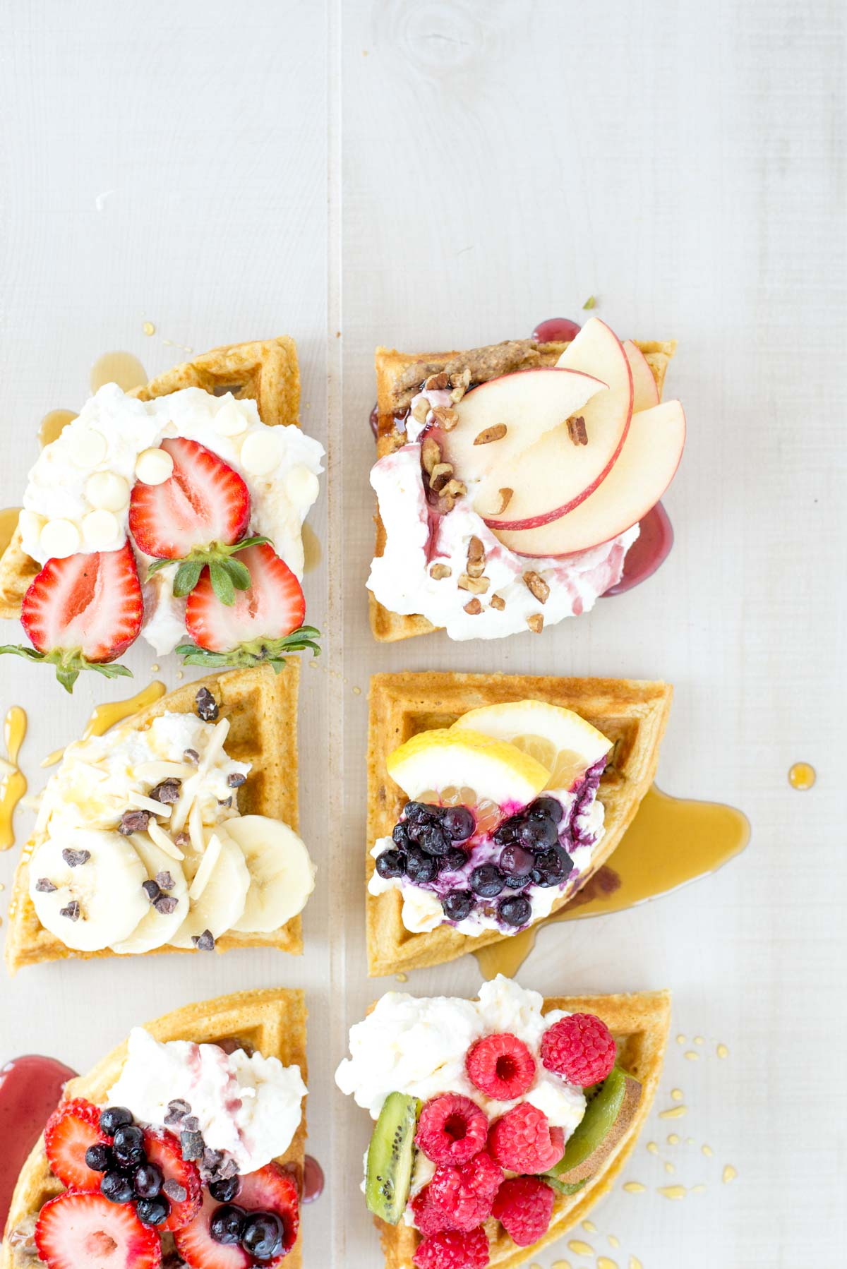 The fastest gluten-free waffles you'll ever make. Five minutes and six pantry staples and breakfast awaits.