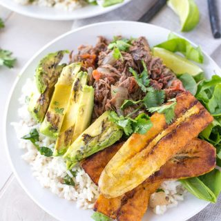 Slow Cooker Barbacoa Taco Bowls