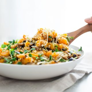 Warm Butternut Squash Salad with Quinoa and Cranberry Vinaigrette