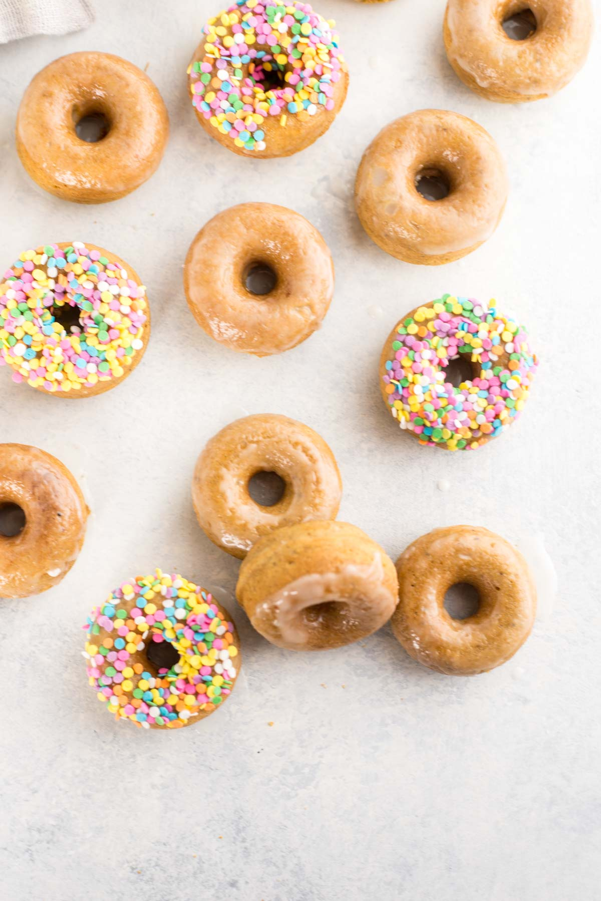 These easy lemon old-fashioned gluten-free donuts are low carbohydrate, high protein and high in fiber.