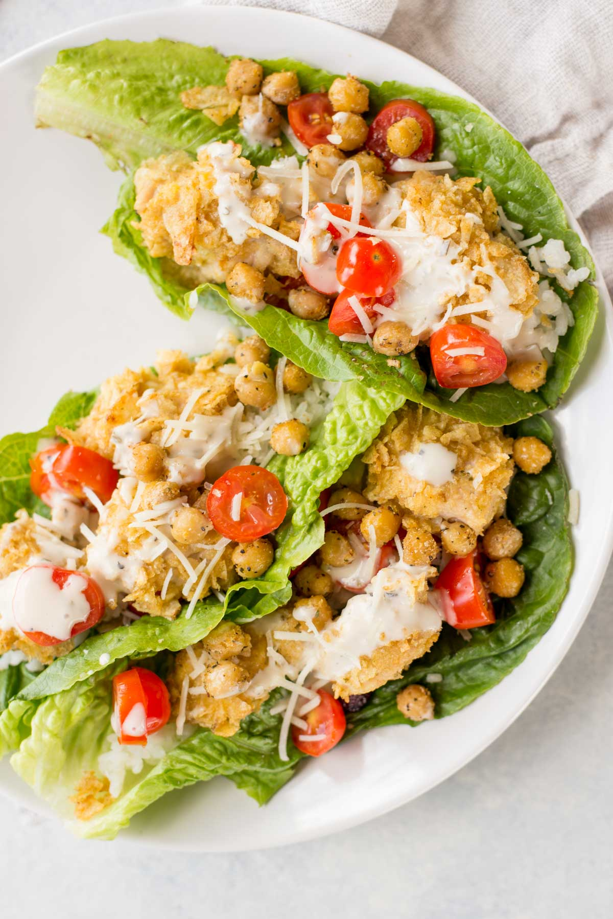 This quick mean is delicious, gluten-free and full of flavor. Healthy breaded chicken in a crispy lettuce wrap.