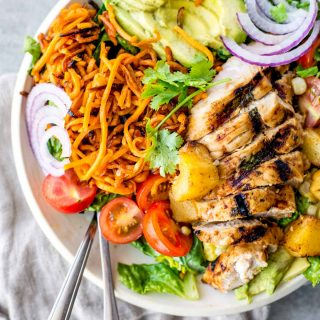 15 minute Hawaiian Chicken Salad Bowl