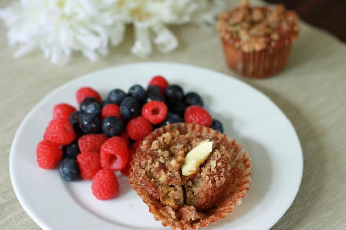 Cinnamon Rhubarb Muffins | simplerootswellness.com