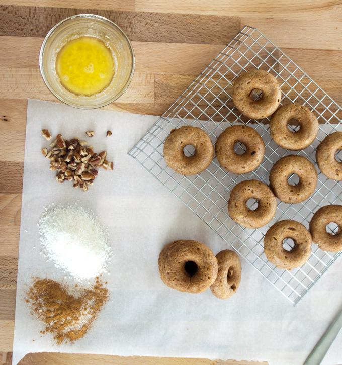 Grain Free Cinnamon Roll Donuts | simplerootswellness.com