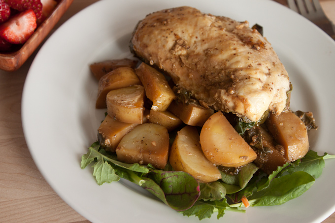 Roasted Chicken and Kale   simplerootswellness.com