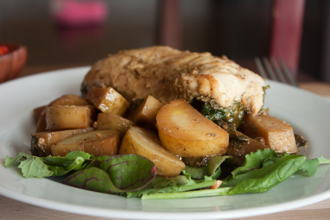 Roasted Chicken and Kale | simplerootswellness.com