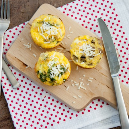 Personalized Frittatas in muffin tin