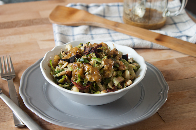 Shaved Brussels Sprouts Salad | simplerootswellness.com